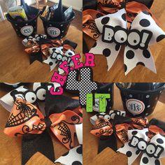 Halloween Cheer Bows!