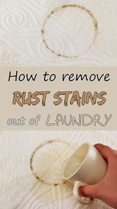 Learn how to remove rust stains out of laundry.