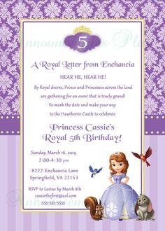 5x7 Sofia the First Birthday Invitation by AnnouncementsPlus, $15.00