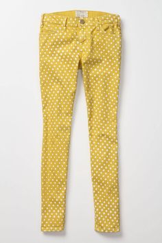 Polka dot and yellow skinnies // don't think I could pull these off, but they made me smile!