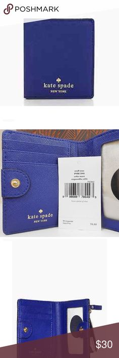Kate Spade Leather Wallet Kate Spade Cedar Street Small Stacy Saffiano Leather Wallet Emperor Blue Brand New , tags included kate spade Bags Wallets