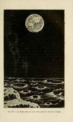 Fig. 85. Earth in the sky, as seen from the Moon. 1881.