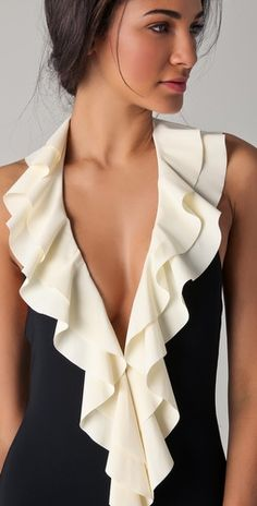 Love the ruffles with contrasting colors  pretty