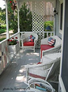 Really like front porch idea but our space is too small....hmm.
