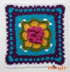 Block #16 in the 2015 Moogly Afghan CAL! FREE crochet patterns all year long!