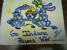 I made for MY FAVORITE NBA team..hung it out on Our Inpatient unit=}=}