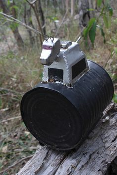 A geocache container based on K9 from Doctor Who.