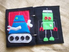 Robots (treads from pinking shears)