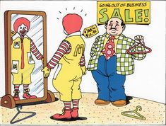 """@filming_in_mcdonaldland on Instagram: """"Ronald finds his perfect outfit at a """"Going Out of Business Sale"""" according to my friend, Art Director Jerome Walker. His concept…"""" Storyboard Drawing, Business Sales, Going Out Of Business, 25th Anniversary, Art Director, Live Action, Ronald Mcdonald, Pop Culture, Concept"""