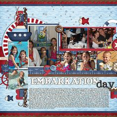 Disney Cruise scrapbook page