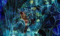 """The cat in bushes""- Visionari"