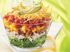 chicken BLT layered taco salad