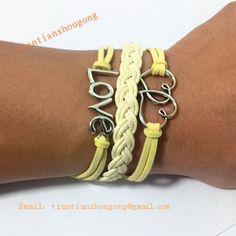 Heart love bracelet infinite love bracelet by tiantianshougong, $7.99