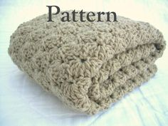 Crochet Baby Blanket Pattern, Instant Download, Digital PDF Pattern, Shell Stitch Blanket, Crib size and Travel size included by Jadescloset on Etsy