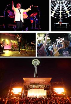 Seattle's annual Labor Day weekend music festival - Bumbershoot - in full swing at the Seattle Center.