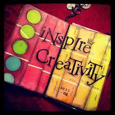 #ShareIG Art Journal page using paint sample cards. #art journal #art
