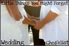 Wedding checklist