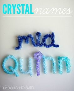 Or make a crystallized version of a word. | 35 Science Experiments That Are Basically Magic