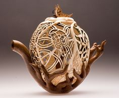 Teapot, by Joey Richardson Wouldn't get much tea from  this one but, boy, is it not beautiful!!