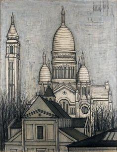 261 870 €  Bernard #BUFFET (1928-1999) Le Sacré-Coeur de #Montmartre  Huile sur…