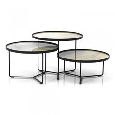 Lightweight and flexible, this coffee table serves a high-fashion look for your living space.Made in Italy Steel Coffee Table, Coffee Table Books, Round Coffee Table, Modern Coffee Tables, Coffee Table Styling, Coffee Table Design, Round Outdoor Table, Oversized Coffee Table, Coffee Table Images
