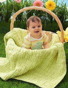 Basket of Love Baby Blanket