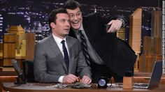 """Colbert faces a changed talk-show landscape. Jimmy Fallon, left, has gotten off to a fast start as new """"Tonight Show"""" host on NBC, and ABC's Jimmy Kimmel also has a strong fan base. Observers are curious whether Colbert will bring his character with him to """"The Late Show."""" We'll find out when David Letterman steps down."""