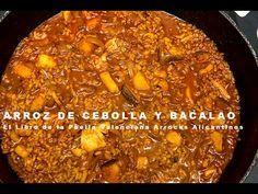 Arroz de Cebolla y Bacalao - Paella Valenciana y Arroces Alicantinos - YouTube Risotto, Paella Valenciana, Chili, Soup, Beef, Youtube, Foods, Videos, Music