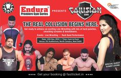 #Indian #Wrestling would never be the same again, most #amazing and ruthless #Action #Game #Leddermatch, #TableMatch,#ChairMatch n Over the top #EliminationRound, Special Guest #SunnyLeone Book your seats:- https://goo.gl/2c8IaQ