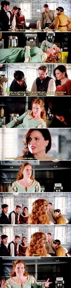 """Are you forgetting I've got magic"" - David, Hook, Regina, Robin, Snow and Zelena #OnceUponATime"