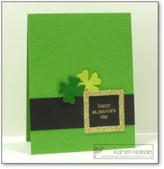St Patrick's Hat kth by kthaman - at Splitcoaststampers st patricks day wishes St Patrick's Hat kth by kthaman - Cards and Paper Crafts at Splitcoaststampers Gold Glitter Paper, Pink Glitter, Happy St Patricks Day, Diy St Patricks Day Cards, St Patrick's Day Gifts, St Paddys Day, Creative Cards, Homemade Cards, Holiday Cards