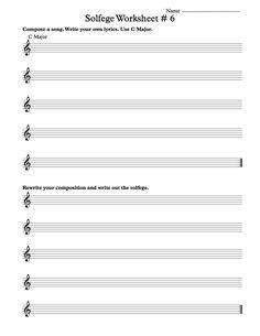 Solfege Worksheet #2 | Music Worksheets | Pinterest | Worksheets ...
