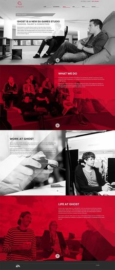 25 Great Web Designs | From up North  Boring, bad, insignificant. Grey and red what can you say?. If you like UX, design, or design thinking, check out theuxblog.com