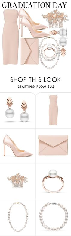 """congrats ,grad: Graduation day style"" by northern-queen ❤ liked on Polyvore featuring Escalier, Elizabeth and James, Jimmy Choo, Rebecca Minkoff and Nina"
