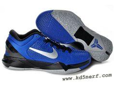 Nike Zoom Kobe 7 Elite Shoes Blue Black Gray 2013 New Kobe Shoes 488b55437
