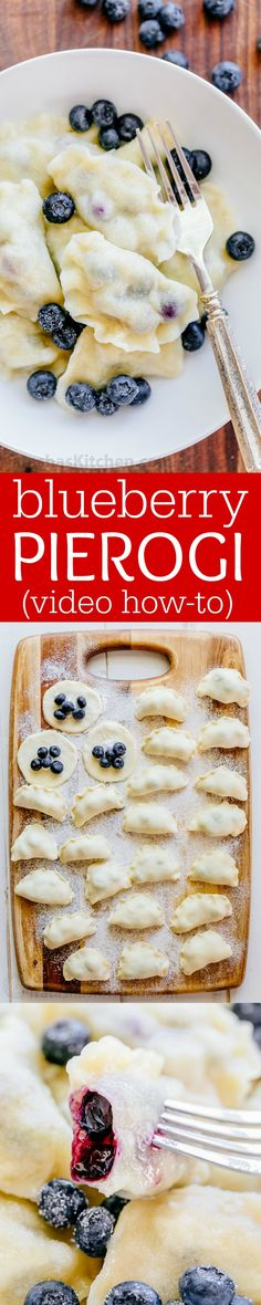 Blueberry pierogi are the ultimate comfort food. Our family has been making pierogi (vareniki) for generations. Watch this video for how to make pierogies! | natashaskitchen.com