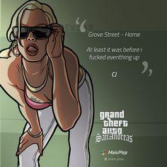 11 Frases que marcaram o GTA San Andreas para você relembrar Playstation, Gta San Andreas, Grand Theft Auto, Gta 5, Alice, Video Game, Games, Nerd, Movie Posters