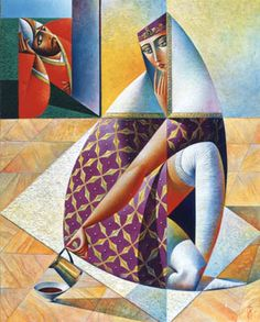 Artist Georgy Kurasov, the painter, the sculptor Cubist Artists, Cubism Art, Art Optical, Puzzle Art, Cafe Art, Surrealism Painting, Abstract Painters, Kandinsky, Art Deco