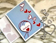 Many Hearts – StampinSimple Read Red, Mary Fish, Stampin Pretty, Paper Glue, Card Making Inspiration, Thread Crochet, Stamping Up, Thank You Cards, Valentines