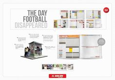 Case Study Empty Pages (Board) for EL Bocón Sports Journal by Publicidad Causa