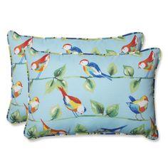 Found it at Wayfair - Curious Bird Indoor/Outdoor Lumbar Throw Pillow