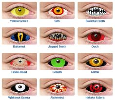 f3c081fe5f22b Ghost Lounge  Creepy Halloween Contact Lenses And Teeth To Complete Your  Costume! Lentes De
