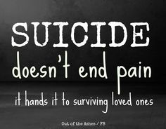 Image result for suicide is selfish