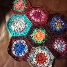 My #hexieloveactuallycal is growing.  I got 3 more hexagons made after work.  4 day long weekend starts tomorrow night and I see a Hexi fest in my forecast. #crochet #handmade #hexiblanket #crochethexies #hexagon #hexies #crochetblanket #whatsonmyhooktoday #hexiloveactually #madelinetoshpashmina #madelinetosh #toshwhore #jomayarn #yarnsnob by laurieleeca