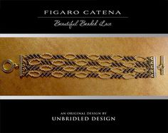 Figaro Catena Lace beaded bracelet PDF Tutorial by UnbridledDesign Wire Wrapped Jewelry, Wire Jewelry, Beaded Jewelry, Beaded Bracelets, Beading Tutorials, Beading Patterns, Beaded Lace, Lace Beading, Beaded Bead