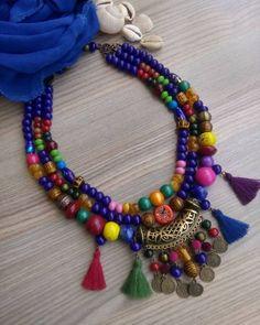 Kolyenin renkleri gibi şeker tadında bir gün olsun 😄 Let the candy taste a day like the colors of the necklace 😄 on… – Jewelry Model, Fine Jewelry, Jewelry Making, Jewellery, Bohemian Jewelry, Jewelry Editorial, Jewelry Illustration, Beaded Jewelry Designs, Fabric Jewelry