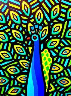 Peacock Iv Painting by John Nolan