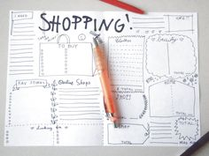 shopping planner checklist journal printable planner agenda journaling A4 page where you can note your favorite shops, to buy lists ecc print it and colour it with crayons as you like or you can leave it blank and use colored markers for the shopping addicts! a gift for woman teen coworker sister friend makeup blogger agenda organizer bullet notebook planner plan diary journal schedule scrapbooking other planners https://www.etsy.com/it/listing/476426309/bullet-journal-kawaii-planner-bujo...
