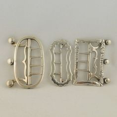 Antique English c. 1700's Sterling Silver Stock Buckles from Trinity Antiques on Ruby Lane, London.