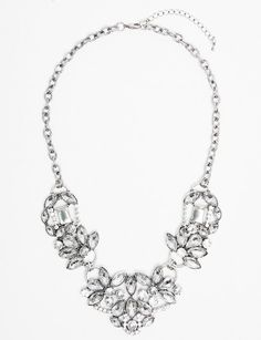 Silver Crystal Luxe Necklace
